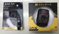 GPS Soleus Cyclometer USB Bike Computer Strava NEW Bundle W/ Barfly Free US Ship