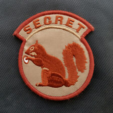 Secret Squirrel Usa Tactical U.S. Army Morale Badge Embroidered Hook Patch #02