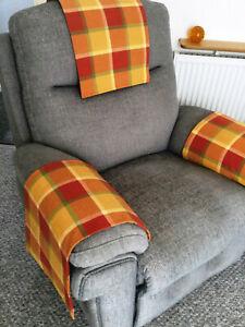 Chair Arm Back Cover Antimacassar Sofa Armchair Protector NEXT FABRIC HIGHLAND