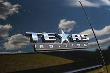 3D TEXAS EDITION EMBLEM CHEVY SILVERADO GMC SIERRA TRUCK UNIVERSAL ABS 3M STICK.