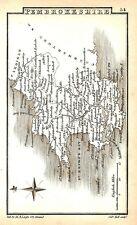 Antique map, Pembrokeshire