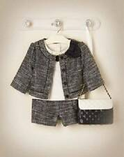 NWT Janie and Jack FRENCH VOYAGE Outfit Boucle Jacket Shorts Blossom Top 2T