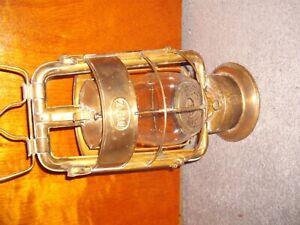 Antique Brass Fire Department Dietz Lantern Fire King for old Fire Truck