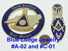 North Carolina Past Master and Ladies Slipper Car Emblems Two Piece Set