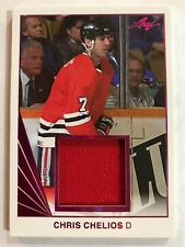 2017-18 17/18 Leaf Hockey Chris Chelios Jersey Memorabilia Blackhawks