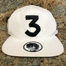 Chance The Rapper 3 New Era Cap Snapback Hat (White) 100% Authentic