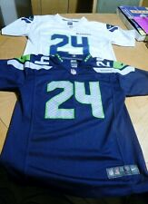Seahawks #24 'Lynch' Youth Shirts/One White/One Navy Blue