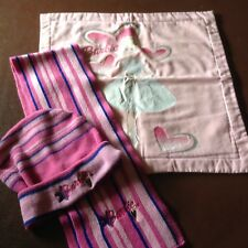 Barbie Cushion Cover and Hat and Scarf. (Shades of pink)