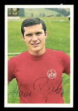 Hans Rigotti 1 fc nuremberg 1968-69 Bergmann sammelbild original sign + a 101345