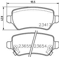 Mintex Rear Brake Pad Set MDB2357  - BRAND NEW - GENUINE - 5 YEAR WARRANTY