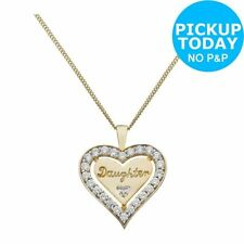 Unbranded Heart Crystal CZ Costume Necklaces & Pendants