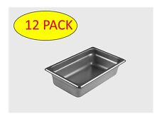 StarkCook 12 PACK Steam Table Pan, 1/4 size, Stainless Steel, STPQ242