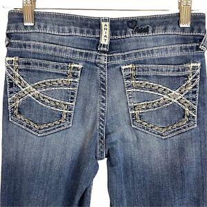 Ariat Girls Size 12 Denim Jeans Medium Rise Boot Whipstitch Pockets #10025984