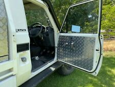 Toyota Land Cruiser 75, 78, 79 Series Checker Plate Aluminium Door Trim Panels.