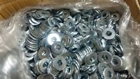 "1925 USS Flat Washers 5/16"" Zinc Plated Steel 25 LBs"