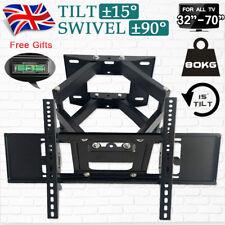 """Swivel Tilt TV Wall Mount Bracket Full Motion Fits 37 42 48 49 55 60 65 70"""" Inch"""