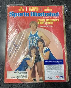 Larry Bird Signed Autograph Sports Illustrated Magazine 1977 Bird With COA