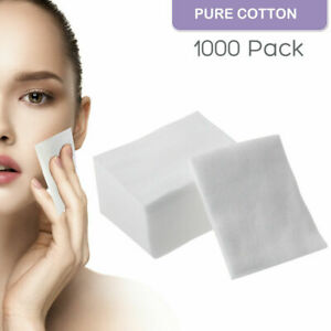 1000pcs Daily Facial Cotton Pad Remove Makeup Clean Lashes for Microblading