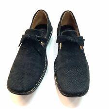 BORN TORUS Woman's Black/Grey Plaid Suede Leather Shoes - Size 8