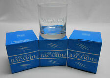Vintage (4) 1996 3.5in.  Bacardi Rock Glasses With Boxes.
