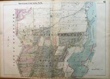 ORIGINAL 1924 MONROE COUNTY NEW YORK CULVER ROAD - IRONDEQUIT BAY ATLAS MAP