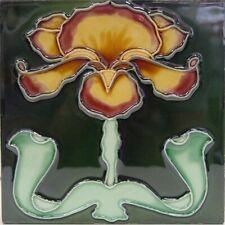 9934026 Jugendstil-Fliese Kachel Keramik neu 15,2x15,2cm