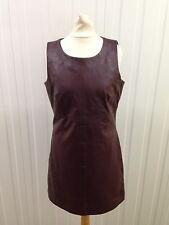 Womens Red Herring Leather Dress - Uk8 - Oxblood - Great Condition