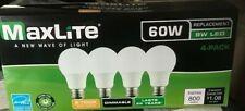 4 pack LED Light Bulbs New 60 Watt Equivalent A19 Dimmable Soft White 2700k Lot