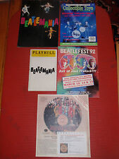 LOT OF FOUR VINTAGE BEATLES MAGAZINES  PROGRAMS AND ADVERTISEMENTS