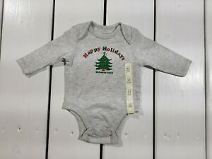 New Old Navy Kids Singlet 0-3 months Gray Christmas Holidays