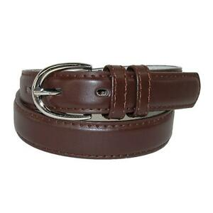 New CTM Kid's Leather 1 inch Basic Dress Belt