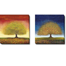 Dreaming Tree Red & Blue by Melissa Graves-Brown 2-pc Canvas Giclee Art Set