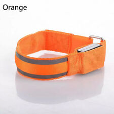 Reflective LED Light Arm Armband Strap Safety Belt for Night Running Cycling Orange