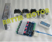 4 Axis Nema23 Stepper Motor 270 Oz-in 76mm & TB6560 USB CNC Driver Board CNC Kit
