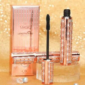 4D Flash Diamond Waterproof Silk Fiber Thick Lengthening Mascara New