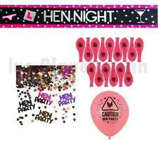HEN NIGHT PARTY DO CONFETTI FOIL BANNER 15 BALLOONS GIRLS NIGHT OUT DECORATION