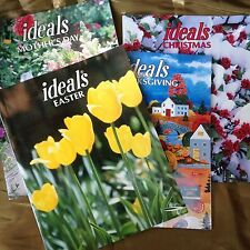 Vintage 'Ideals Magazine' Lot of 4, Easter, Mothers Day,Thanksgiving, Christmas