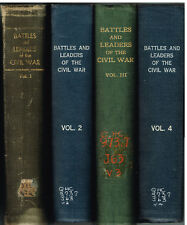 Battles & Leaders of the Civil War by Johnson & Buel 4 Vol. 1887 Books! $