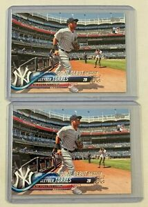 2018 Topps Update #US191 GLEYBER TORRES RC * Lot of 2