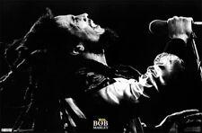 Bob Marley LIVE IN CONCERT POSTER - Reggae Music Wall Art c.1970s