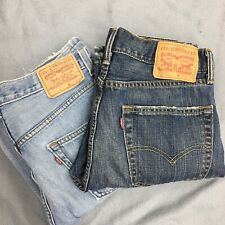 Used Lot Of 2 Levis Light And Dark Wash 505 Regular Fit Denim Jeans Men Sz 31x30