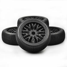 4X 1/8 Off-Road RC Rubber Tires Wheel Rims For HSP HPI Racing Buggy Car 17mm Hex