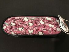 "Hello Kitty Zippered Pencil Case Pouch 8"" L X 1.25"" W X 2.5"" H"