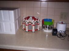 Dept 56 Snow Village THE CARNIVAL CAROUSEL Musical Rotating Screen w/box
