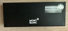 MontBlanc Pen Box & Sleeve - Black Box with Gold Logo - Pen Box & Sleeve Only