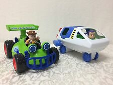 RARE Fisher-Price Little People Toy Story Woody w/RC & Buzz w/Spaceship HTF