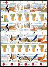 Namibia 2012 Vögel Birds Uccelli Oiseaux Freimarken Stegpaare Gutter Pairs MNH