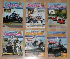 6x zeitschrift motorrad  gespanne für gespann fahrer alt 1998 / 99 heft konvolut