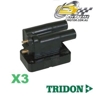 TRIDON IGNITION COIL x3 FOR Mitsubishi  Triton-V6 MK 10/96-10/03, V6, 3.0L 6G72