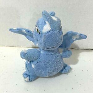"Neopets Cloud Scorchio Mini Plush 4"" Blue Fire Breathing Dragon Like Kids Toy"